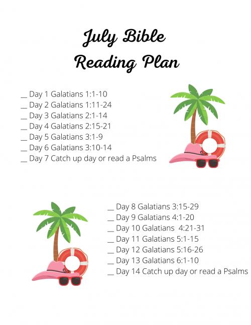 July Bible Reading Plan